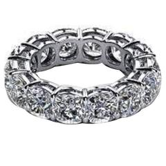 5.60 Carat Diamonds Platinum Eternity Band Ring