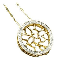 18K Gold and Diamond Web Necklace by John Brevard