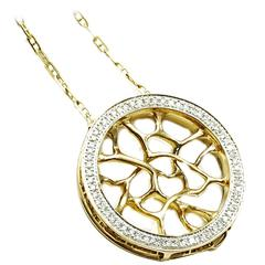 John Brevard Diamond Gold Web Necklace