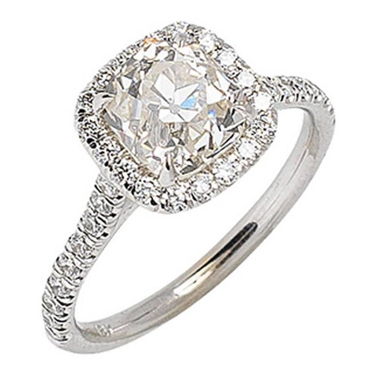 Art Deco 2.15 Carat Diamond & Gold Engagement Ring