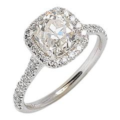 Art Deco 2.15 Carat Diamond & Gold Engagement Ring