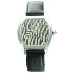 Cartier White Gold Tortue Zebra Wristwatch