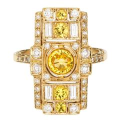 Sabine Getty Sapphire Diamond Harlequin Ring