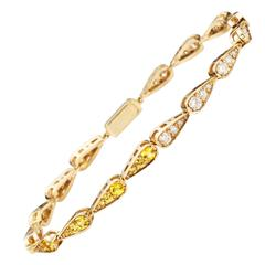 Sabine Getty Sapphire Diamond Tennis Bracelet