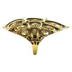 Morpho Diamond Gold Ring
