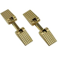 French Art Deco Gold Flip Up Cufflinks