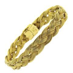 Henry Dunay Gold Braided Bracelet