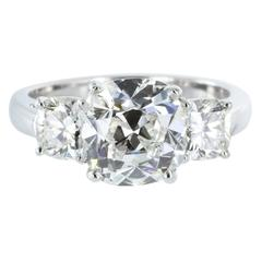 2.36 Carat G/SI1 GIA Certified Cushion Cut Diamond Platinum Engagement Ring