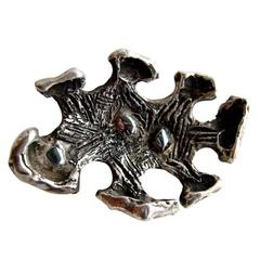 Robert Trout Garnet Sterling Silver Brooch
