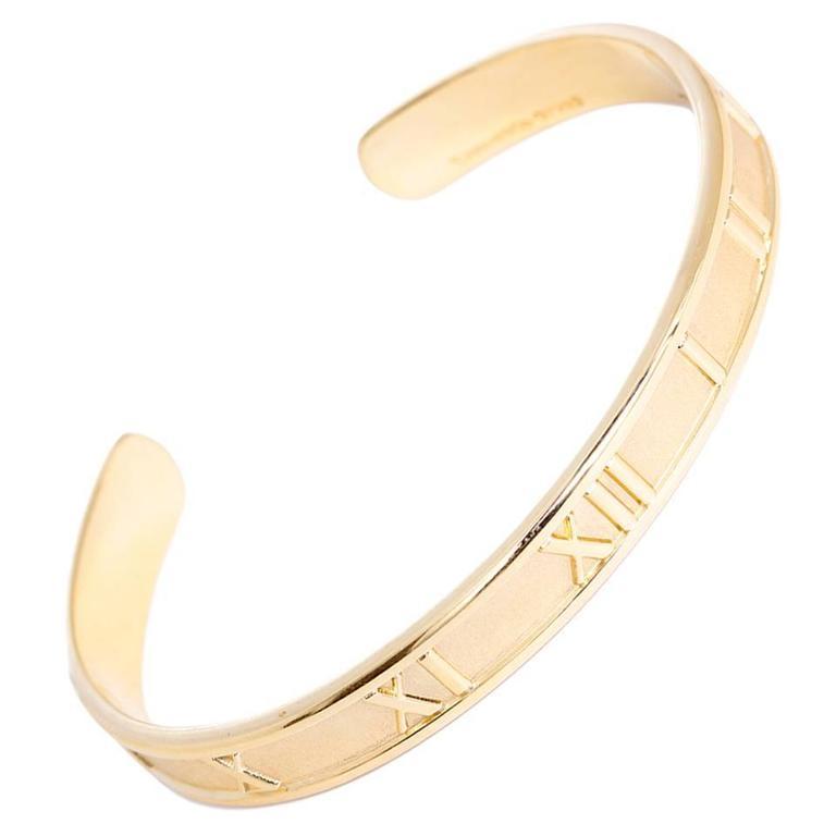 Tiffany & Co. Gold Atlas Cuff Bangle Bracelet 1