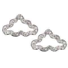 TPL Silver Diamond Cloud Earrings