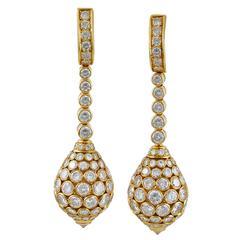 "Cartier Diamond Gold ""Taj Mahal"" Ear Clips"