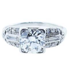 Park Place Antique Jewelry Fine Quality Art Deco Diamond Platinum Enement Ring
