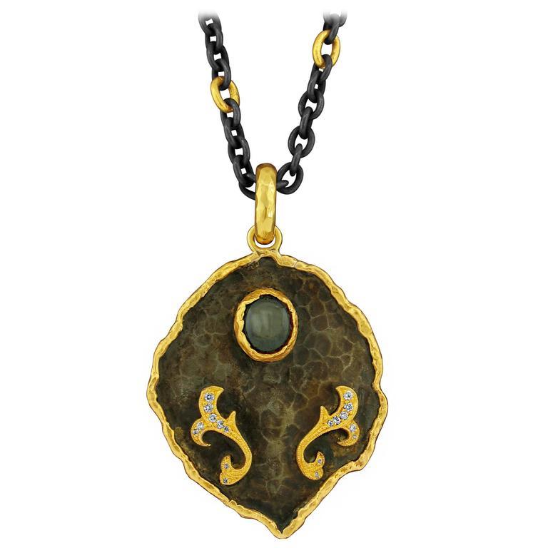 Victor velyan black star sapphire diamond pendant for sale at 1stdibs victor velyan black star sapphire diamond pendant for sale mozeypictures Choice Image