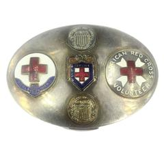 Historical Mary Dunhill World War II American Red Cross Volunteer Compact