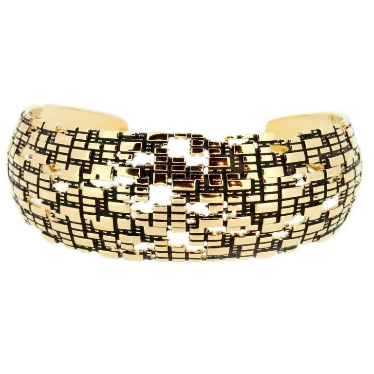 Blockchain 18k Gold Cuff