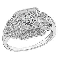 Enticing Diamond Platinum Engagement Ring
