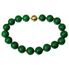 Beautiful Rare Natural Maw Sit-Sit Jade Beads Necklace