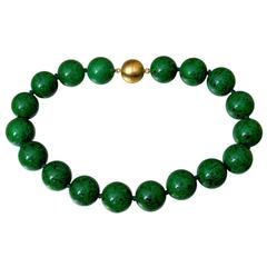 Beautiful Rare Natural Maw Sit-Sit Jade Beads Necklace