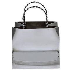 Cartier Hand Made Sterling Silver Shopping Bag