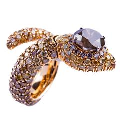 Diamond Gold Snake Ring