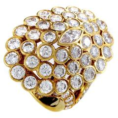 Cartier Diamond Gold Cluster Ring