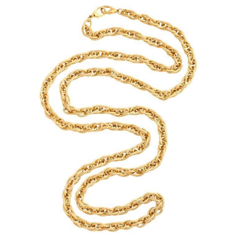 "55"" Long Gold Tone Chain"