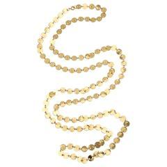 Goldtone Tiny Disk Confetti Necklace