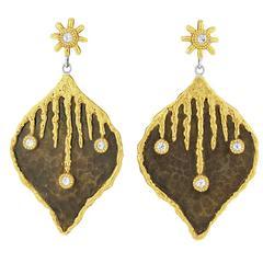 """Victor Velyan Diamond """"Icicle"""" Earrings"""