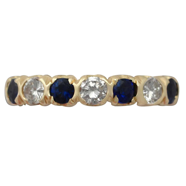 Diamond and Sapphire Three Rings at 1stdibs