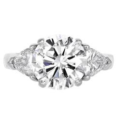 3.03 Carat Round Brilliant Diamond Engagement Ring