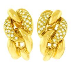Bucherer Diamond and Gold Earrings