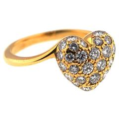 "Cartier Diamond ""Heart"" Ring"