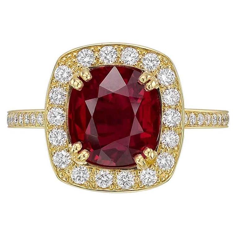 Betteridge 3.96 Carat Burmese Ruby and Diamond Ring