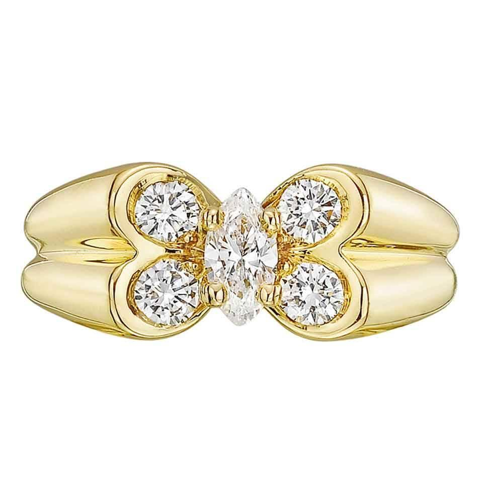 diamond triple butterflies graff a collections pav pave ring butterfly rings featuring