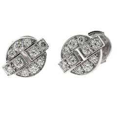 Cartier Himalia Diamond Gold Earrings