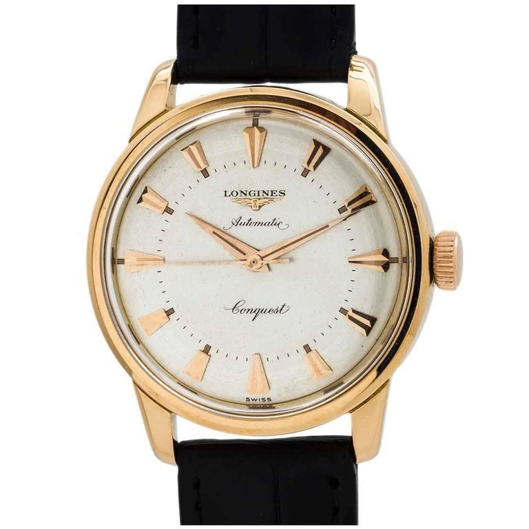 Longines Rose Gold Conquest Wristwatch