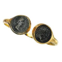 Rare Bulgari Ancient Roman Coin Gold Bracelet