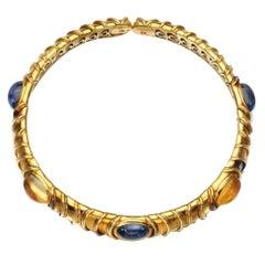 Marina B Blue and Yellow Sapphire Gold Choker