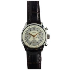Gubelin Stainless Steel Valjoux 72 Chronograph Doctors Pulsation Watch