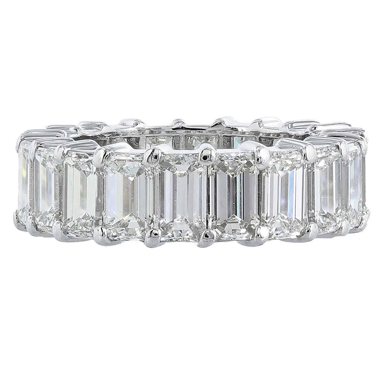 829 Carat Emerald Cut Diamond Platinum Eternity Band Ring. Ornate Wedding Rings. Flower Cut Engagement Rings. Lace Rings. Large Gold Bangle. Craft Watches. Light Green Sapphire. 3 Diamond Anniversary Band. Love Bands
