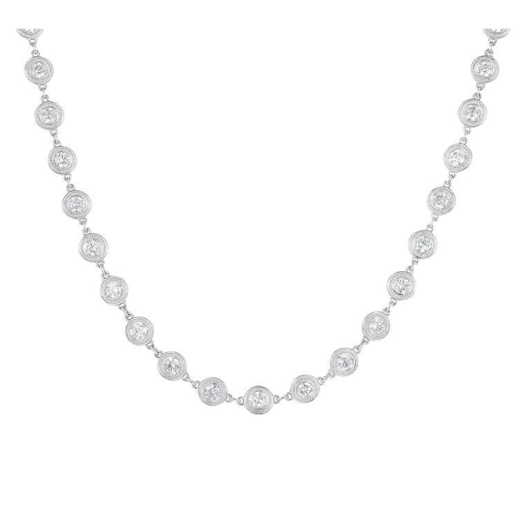 5.97 Carats Diamonds Gold Necklace