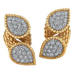 Boucheron Paris Diamond Gold Serpent Boheme Earrings