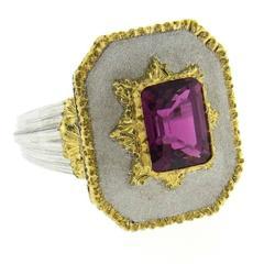 Buccellati Pink Tourmaline Gold Ring