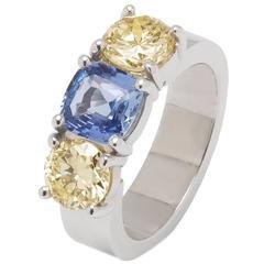 Jesse Handmade Sapphire Diamond Gold Ring