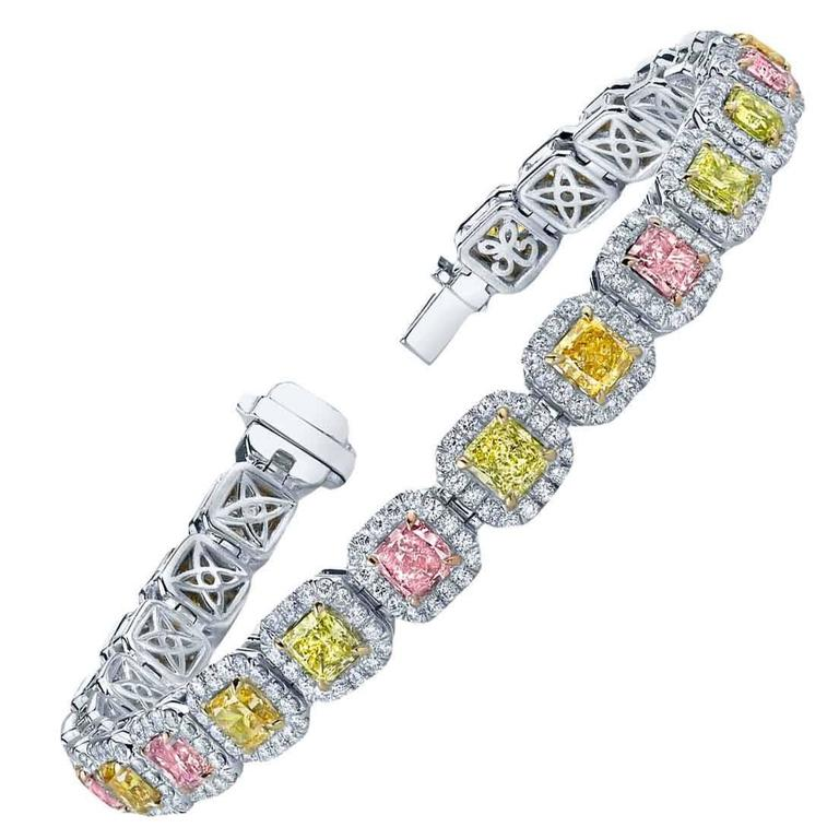 Diamond Platinum Fancy Color Bracelet 1