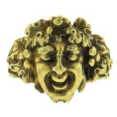 Buccellati Gold Bacchus Dionysus Ring