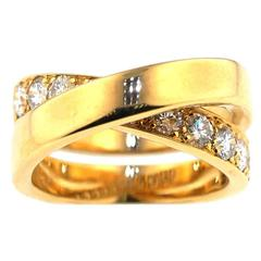 "Cartier ""Paris Nouvelle Vague"" Crossover Diamond Gold Ring"