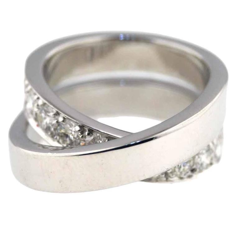 """Cartier """"Paris Nouvelle Vague"""" Crossover Diamond Ring For Sale"""