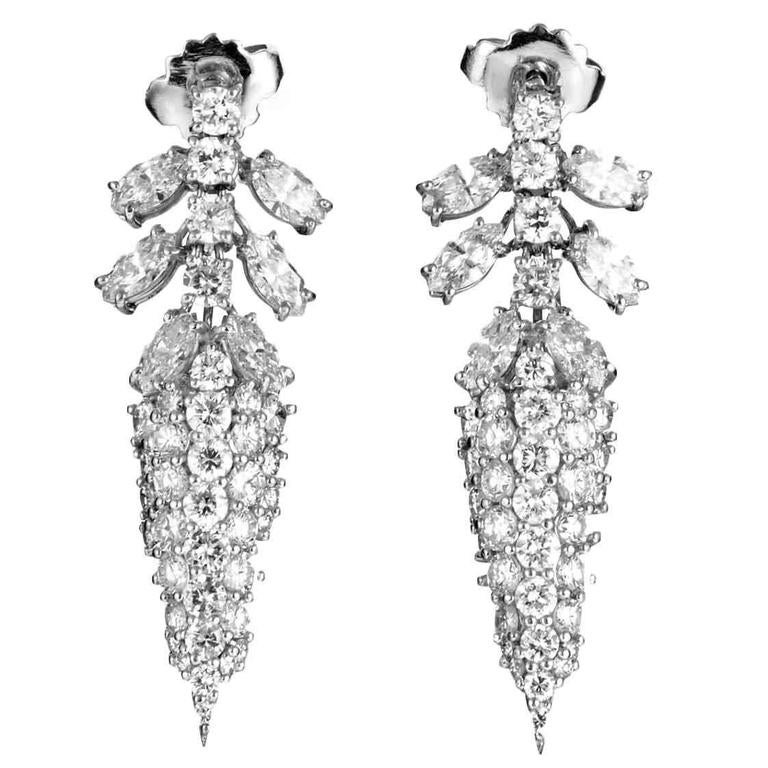 Diamond Pave Gold Spike Earrings 1